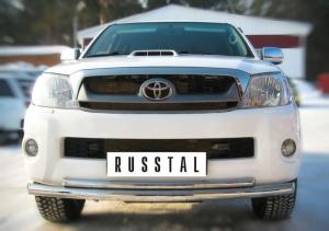 Toyota Hilux Защита переднего бампера d63/42 (дуга) TLZ-000002